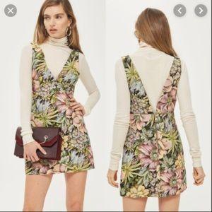 Top shop jacquard floral mini dress